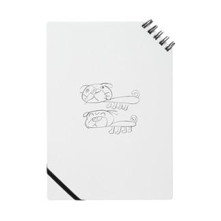 2匹のパグ Notes