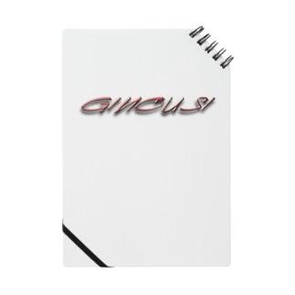 """ぎのうし群""""GINOUSHI(ワイヤー赤金)""""034 Notes"""