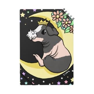月とモルモット(ゆるかわ×スキニーギニアピッグ) ノート
