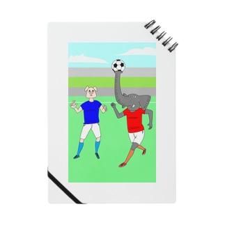 ボールを運ぶゾウ ノート