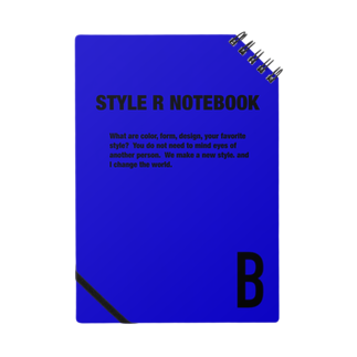 STYLERCLOTHESのSTYLE R NOTEBOOK BLUE Notes