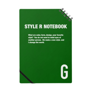 STYLE R NOTEBOOK GREEN ノート