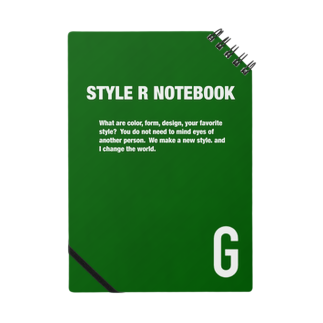 STYLERCLOTHESのSTYLE R NOTEBOOK GREEN Notes