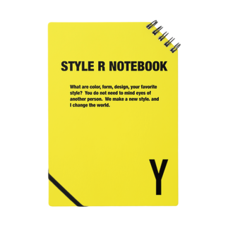 STYLERCLOTHESのSTYLE R NOTEBOOK YELLOW Notes
