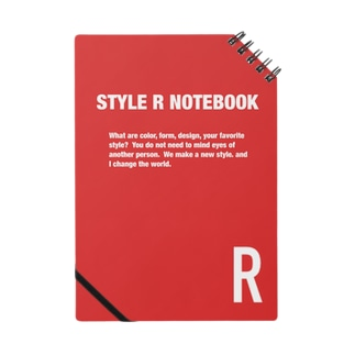 STYLE R NOTEBOOK RED ノート