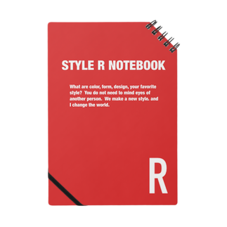STYLERCLOTHESのSTYLE R NOTEBOOK RED Notes