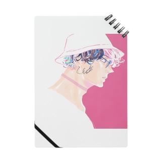 ピンクと男の子 ノート