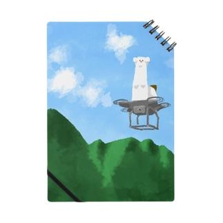 ドローンで飛行しているオコジョ ノート
