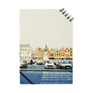 ベルギー:ブルージュの風景写真 Belgie: view of Brugge ノート