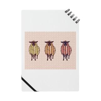 三匹の羊(ピンク) Notes