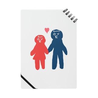 LOVE顔カップル ノート