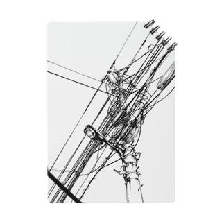 電柱電線画1 黒 Notes