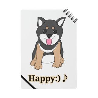 うるうる黒柴犬ちゃん 英語ロゴ Notes