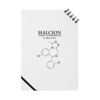 ハルシオン(トリアゾラムを使用した睡眠導入剤[睡眠薬]):化学:化学構造・分子式 Notes