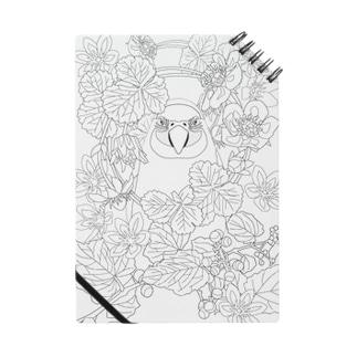 【大人の塗り絵】鳥と花Ver1 Notes
