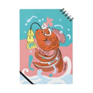 跳ね金魚(背景カラー) Notes