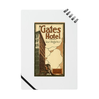 Advertisement, Gates Hotel, Los Angeles [cover] Notes