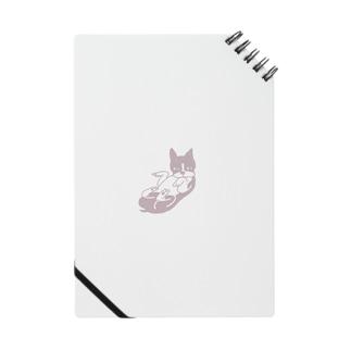 仰向けのボストンテリア (ピンク) Notes