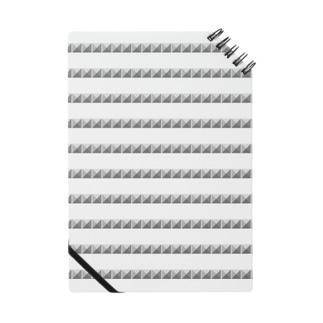 ピラミッドスタッズ ボーダー ノート