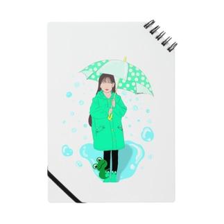 雨の日に出会う☂️🐸 Notes