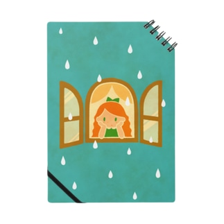 雨をながめる女の子(グリーン) Notes