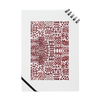 壁画のような文様の縦長 Notes