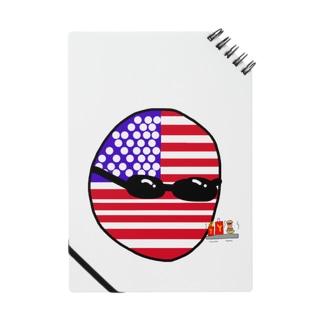 ポーランドボール×カントリボールグッズ商品店のUSAあめりかボール(アメリカボール)  Notes