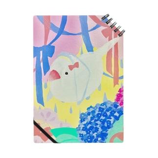 紫陽花と文鳥 Notes
