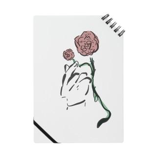 手とバラ Notes