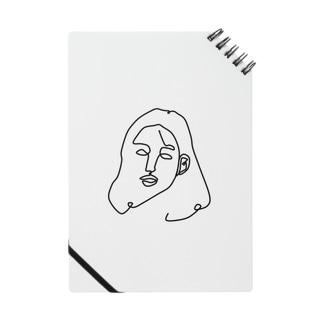 一筆書き woman Notes