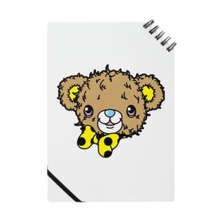 Cɐkeccooのクマのブラウン-カラフル(うさぎのラビのお友達) Notes