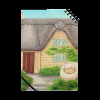 ひつじ好きの未草のギャラリーの茅葺屋根のお家とひつじさん Notes