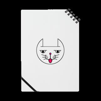 ヒロさんのグッズのネコだお(口開け)(カラー) Notes
