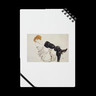 Art Baseのエゴン・シーレ / 1913 / Woman in Black Stockings / Egon Schiele Notes