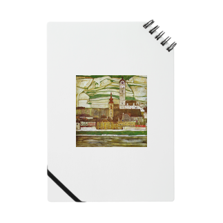 Art Baseのエゴン・シーレ / 1913 /Stein on the Danube, Seen from the South / Egon Schiele Notes