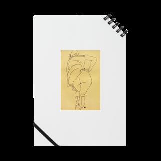 Art Baseのエゴン・シーレ / 1918 /Semi Nude, Back View / Egon Schiele Notes
