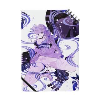和柄 青の金魚姫3 藤紫 キモノガール Notes