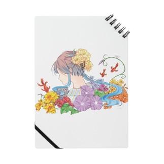 夏「日本のきもの美人」 Notes