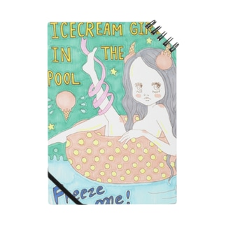Ice cream girl in the pool            Notes