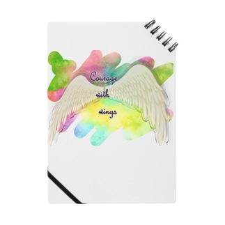 勇気を翼に★天使の羽★癒しカラー Notes