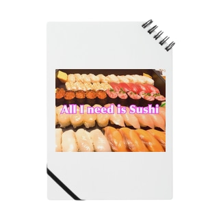 All I need is Sushi(文字入り) Notes