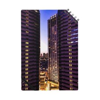 高層ビル群、夜景 Notes