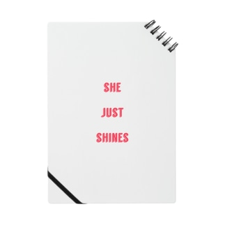 she just shines notebook Notes
