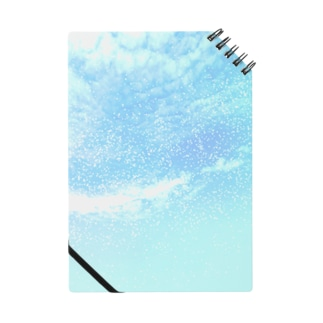 Pastel blue cosmic sky Notes