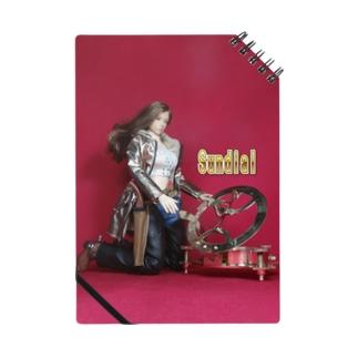 ドール写真:日時計を見る栗色の髪のガンファイター Doll picture: Sundial & girl Notes
