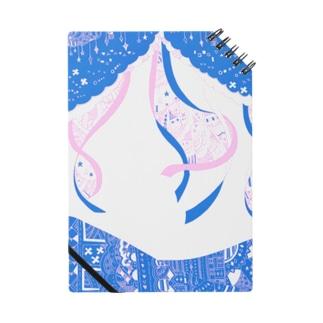 模様売り場の星とひらひら ピンク Notebook