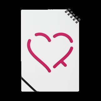 レオナの作字「ハート」 Notes