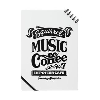りすカフェ7(黒ロゴ) Notes