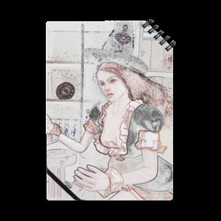FUCHSGOLDのCG絵画:メイド服の魔女 CG art: Witch Notes