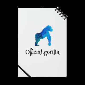 Official-gorillaのOfficial.girillaグッズ(ブルーナチュラルver.)黒字 Notes